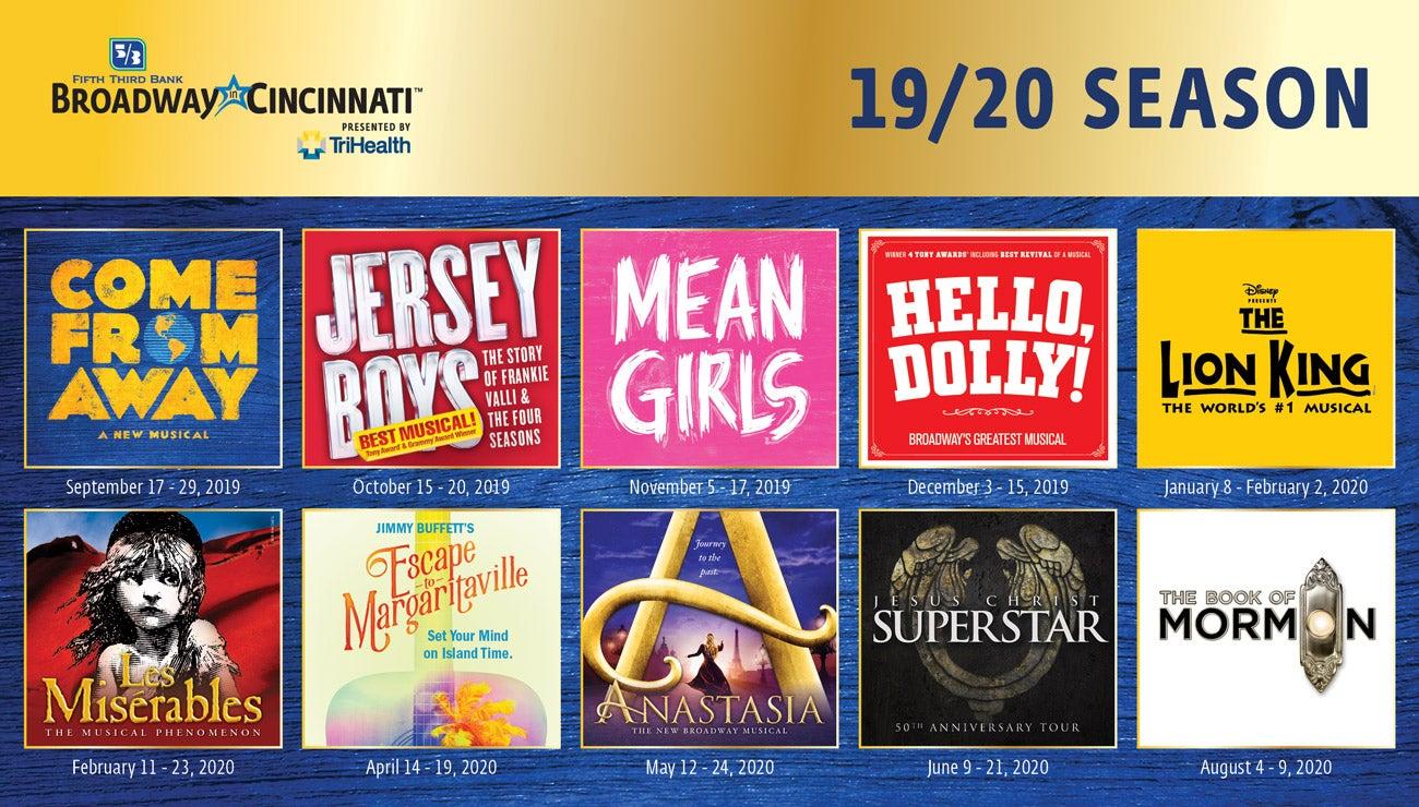 2019-20 Broadway in Cincinnati Season | Cincinnati Arts