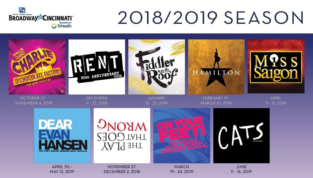 2018 19 broadway in cincinnati season cincinnati arts