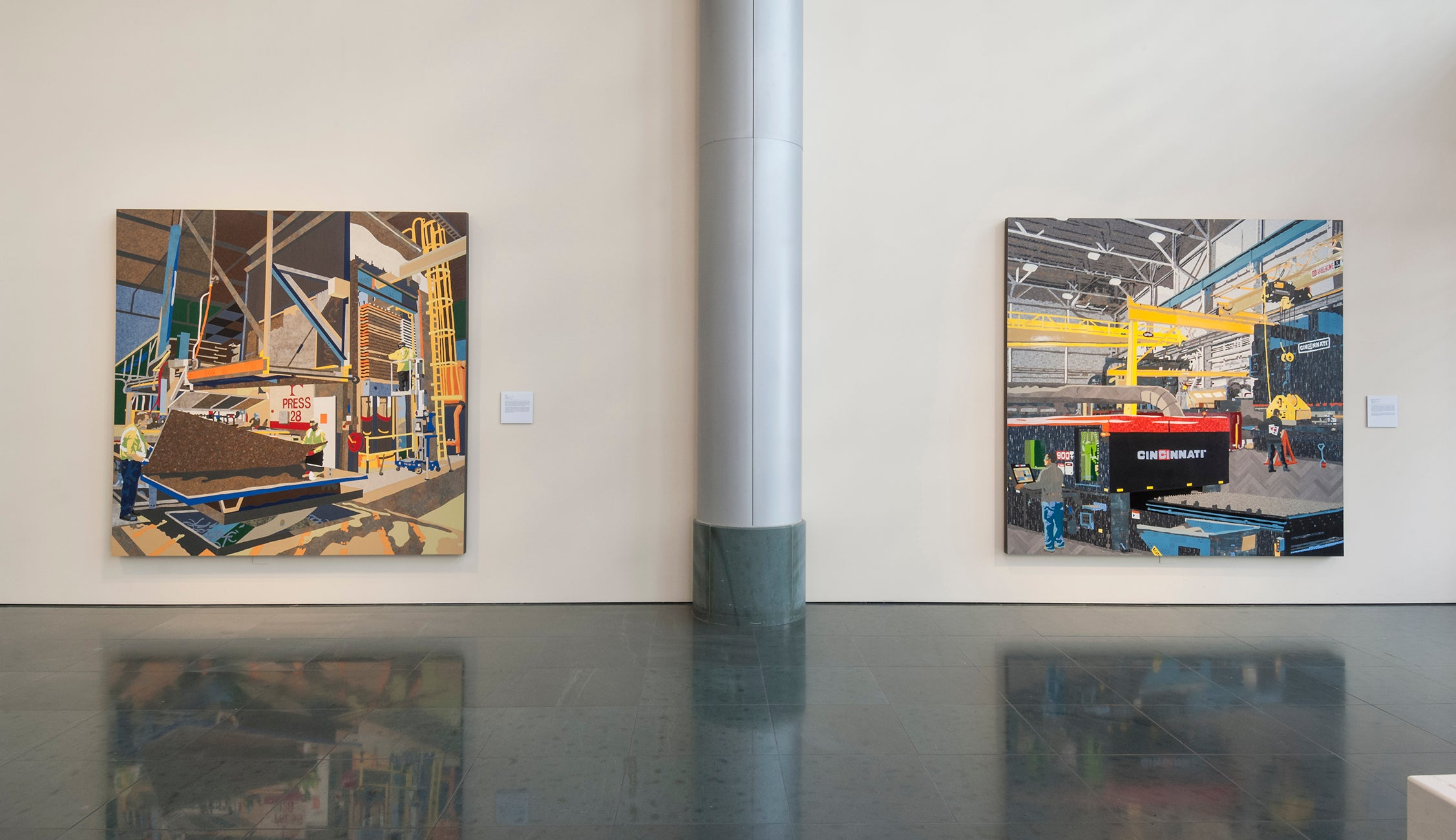 Goldstein, Curtis and Matt Lynch - installation view of Formica, 2015, and Cinti. Incorporated, 2018 (l-r).jpg