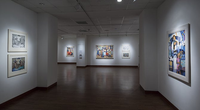 Phillips Young, Joyce - installation view (exhibition entrance).jpg