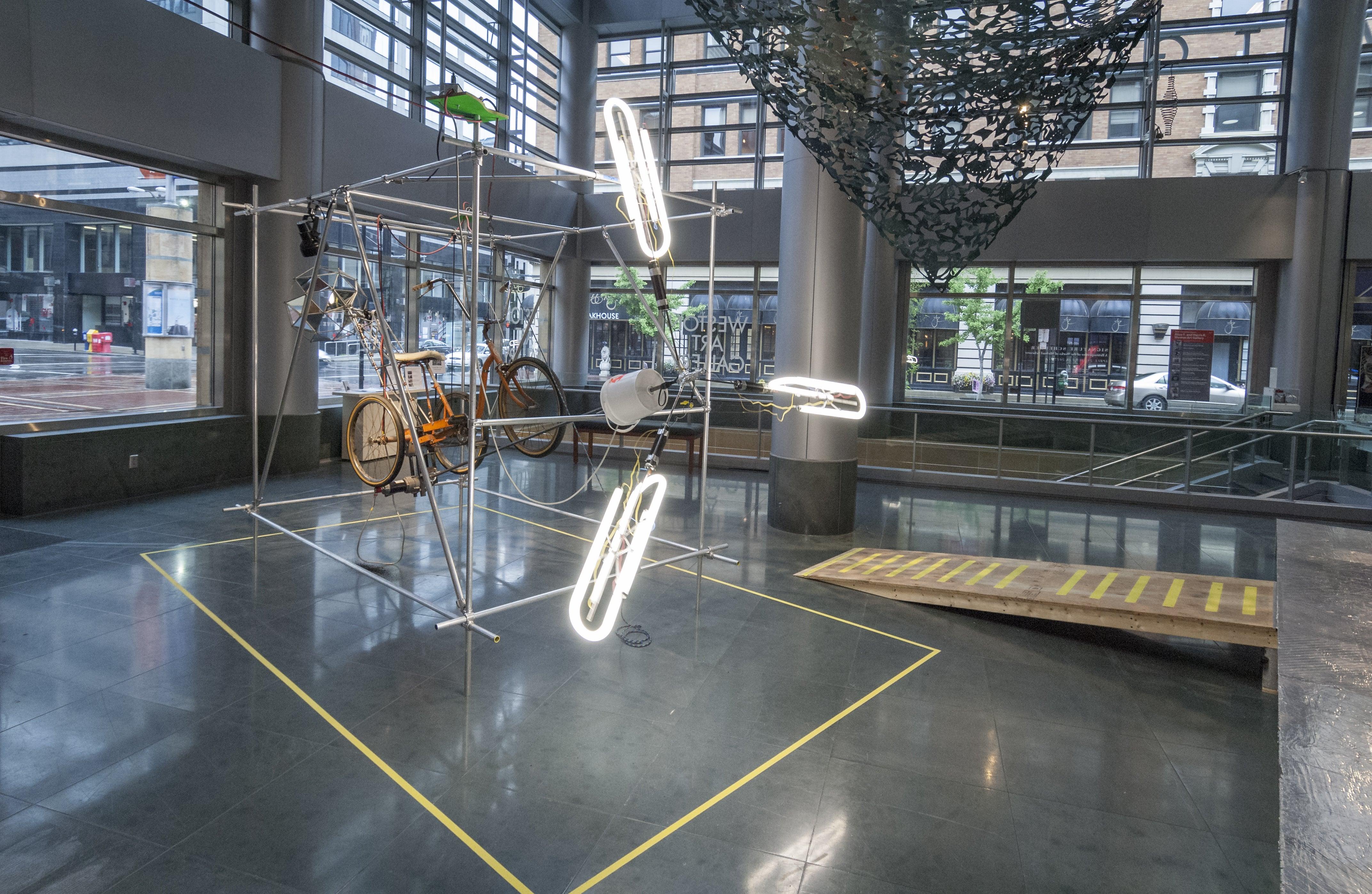 Nate ricciuto the curiosity motive cincinnati arts for Mirror installation